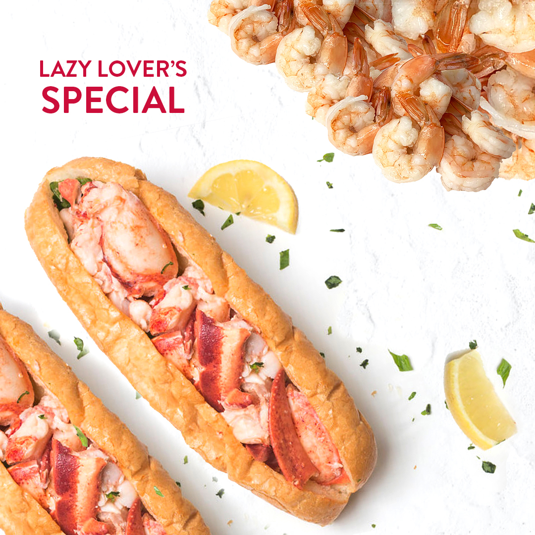 Lazy Lover's Special with Shrimp!